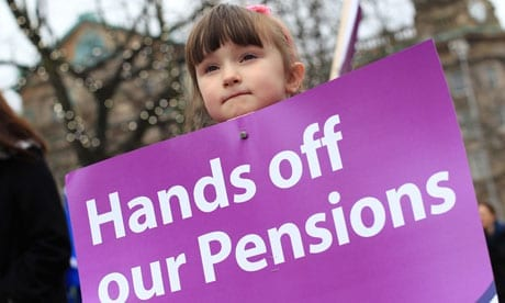 Pensions protests: but the problem is getting worse